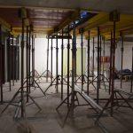 CrossFit Plzeň - betonování podlah - podpěry