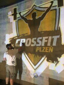 CrossFit Plzeň - sprejování / malování loga