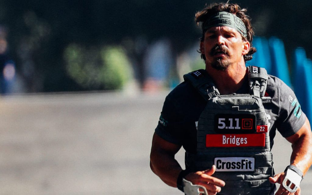 Josh Bridges Run with weight vest